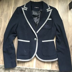 Nautical wool blazer
